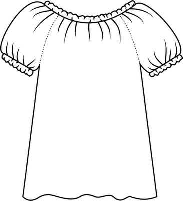 How to measure and make a peasant blouse (tutorial)