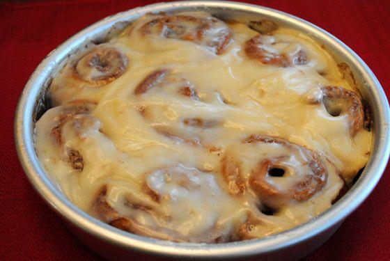 Pumpkin Cinnamon Rolls with Cream Cheese Icing | Recipe
