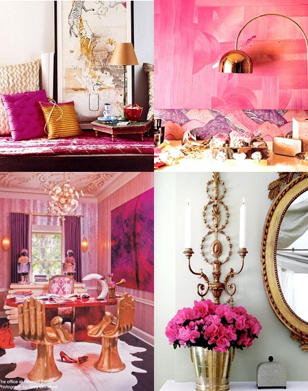 Pink and Gold color combination!