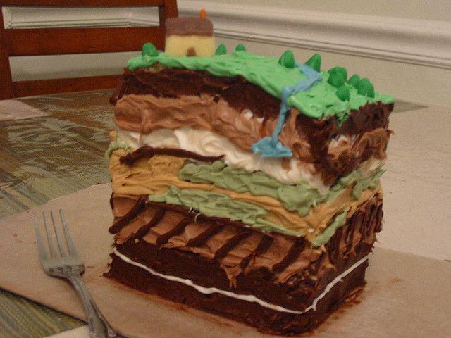 Utálom, hogy adjunk édességet az osztályteremben, de ez egy nagyon vizuális módon tanítani ezt, ha a gyerekek részt vesznek a sütés a Földtani tortát.  Minden réteg a Föld felszíni formák és más dolog, hogy hasznos lenne tanítani.