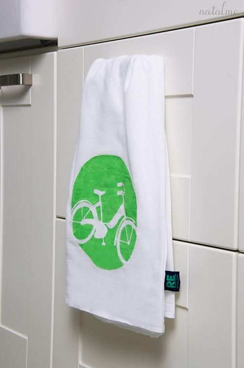 diy painted kitchen towel diy crafts craft 3 pinterest