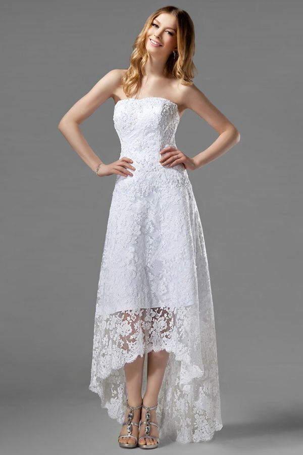 Lace hi lo wedding dresses and ideas pinterest for Hi lo wedding dress