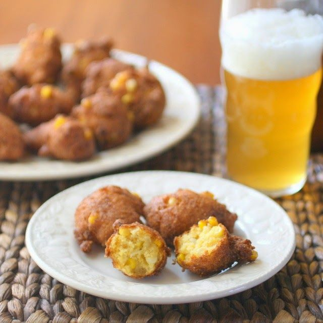Crispy Corn, Bacon and Cheese Fritters. | Food | Pinterest