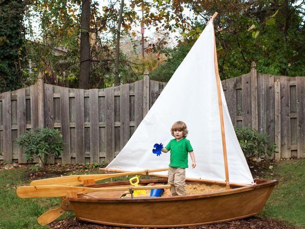 Family Backyard Designs : Rowboat Sandbox  15 FamilyFriendly Backyard Designs on HGTV