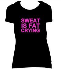 neon exercise clothes for women | ... Fat Crying Fitted Womens T-Shirt