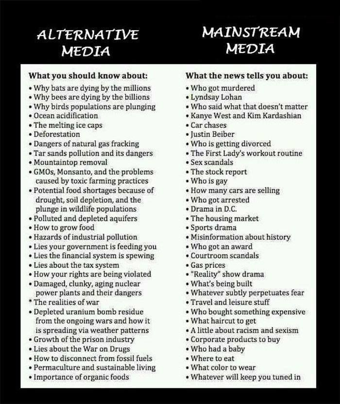 a comparison of mainstream and the alternative media Democrats, by comparison, have a far greater trust in the mass media (58 percent) when compared to republicans (26 percent) and independents (31 percent) some say that's because more of the mainstream press tends to shill for democrats and liberals in office, the most notable exception being fox news, which leans heavily republican.