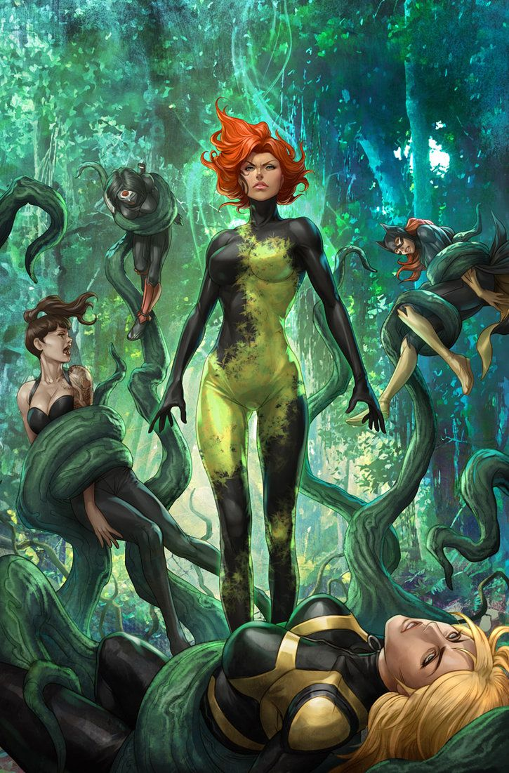 Poison Ivy's new outfit looks interesting.