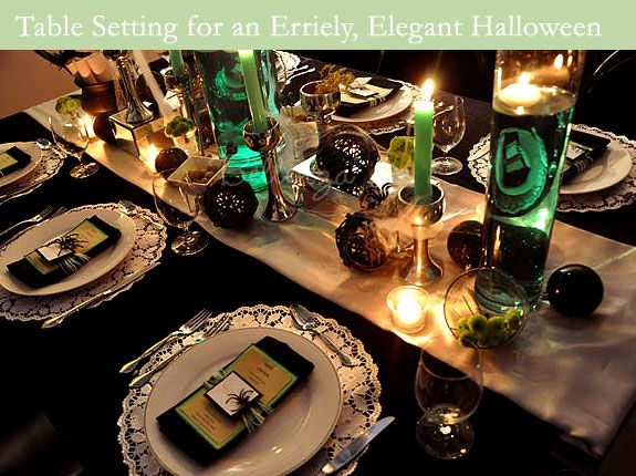 Elegant Halloween Table Decor Holiday And Gift Ideas