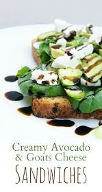 Tinned Tomatoes: Creamy Avocado and Goats Cheese Sandwiches