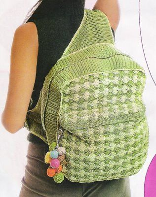 crochet backpack A. Free crochet patterns Pinterest