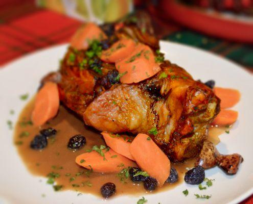 Hunt Club Chef Dan Gilmore's Confit Pork Shank With Maple Glaze