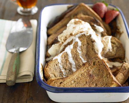 Baked Strawberry-Rhubarb French Toast | Recipe