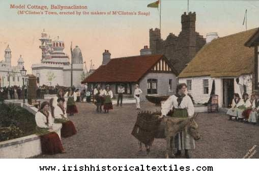 "The ""Irish"" village at the 1908 Franco-British Exhibition was called Ballymaclinton, and 150 women were hired (they had to audition, and were judged on their 'Irish beauty, charm, and expertise') as ""colleens"" to exhibit Irish everyday life. #irish #history #ireland"