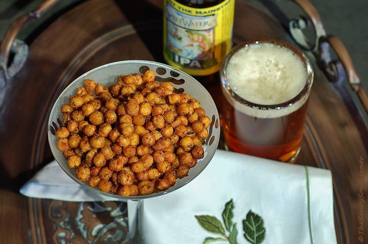 Crispy-Roasted Spicy Chickpeas (Garbanzo Beans) | The Saucy Southerner