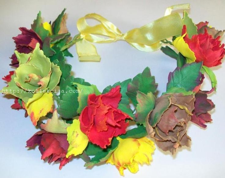 Венок из осенних листьев мастер класс