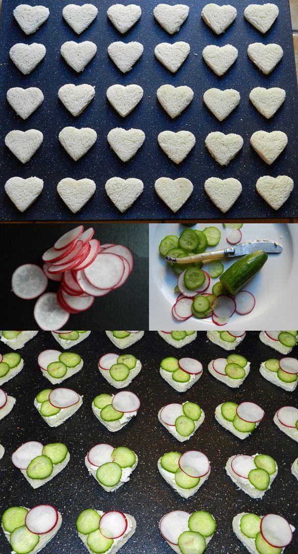 radish, cucumber and herbed boursin tea sandwiches #bitebymichelle
