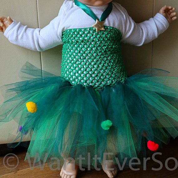 Baby tutu dress 6 12 months christmas tree