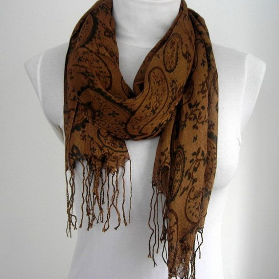 Dark Brown Scarf Womens Scarf Scarves Gift for by   Products I Lo  Brown Scarves For Women