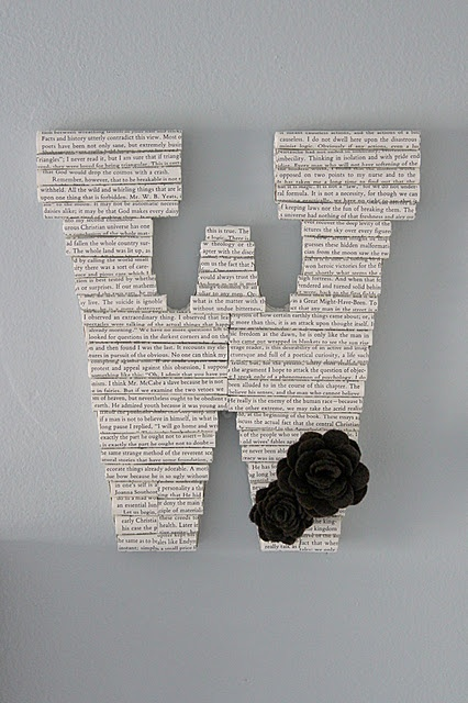 book inspired letters