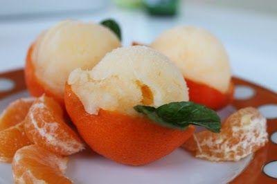 Tangerine Ginger Sorbet | want to eat it | Pinterest