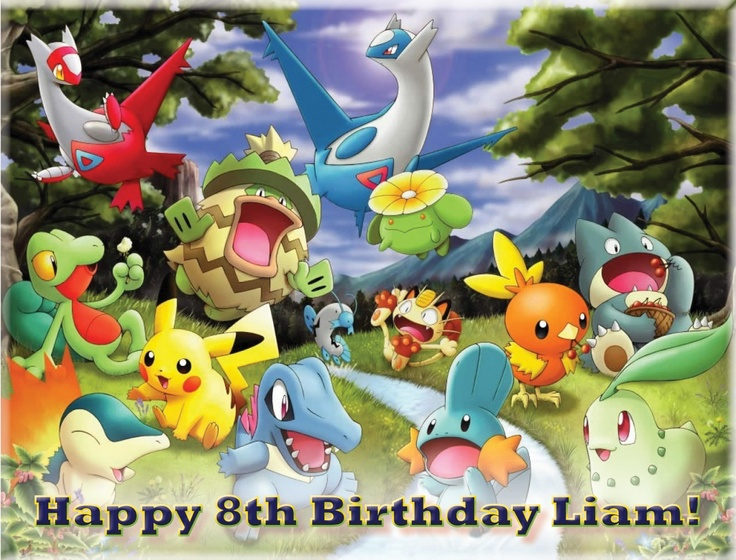 Edible Cake Decorations Pokemon : Edible Pokemon personal cake topper Printed Icing ...