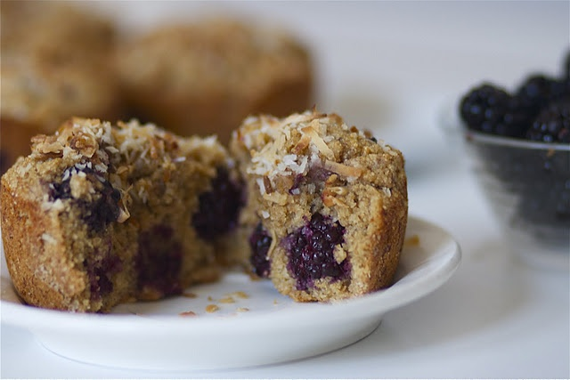 blackberry banana coconut muffins | Want to Cook, Muffins | Pinterest