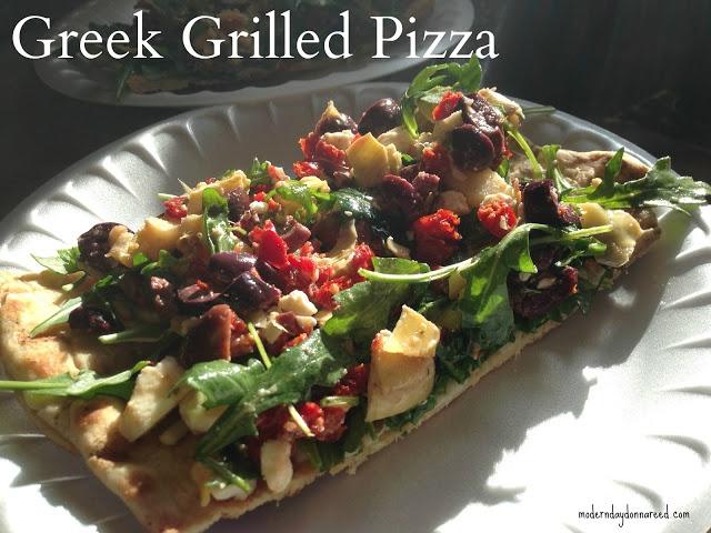 Grilled Greek Pizza | Motivation Monday Linky | Pinterest