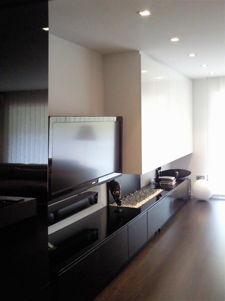 Moderno #Sala de la TV #Sala de estar #Muebles de TV #Accesorios