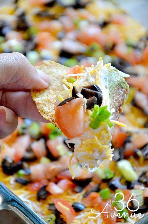 7 Layer Bean Dip Recipe — Dishmaps