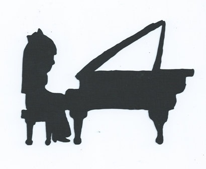 Little girl playing piano silhouette by hilemanhouse on Etsy   1 99Playing Piano Silhouette