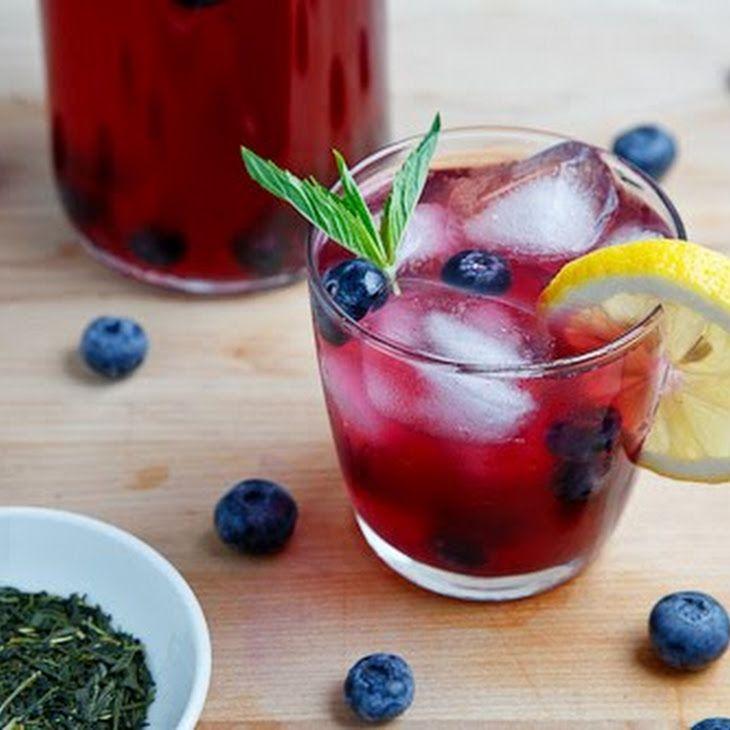 Blueberry Iced Green Tea Recipe | Drink reciepes | Pinterest