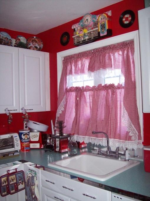 50s kitchen good curtains retro pinterest