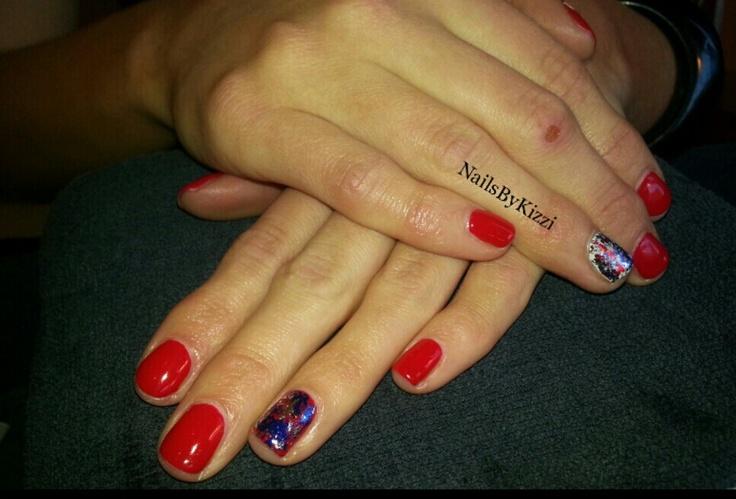 Red White Blue Nail Art | Nails By Kizzi | Pinterest