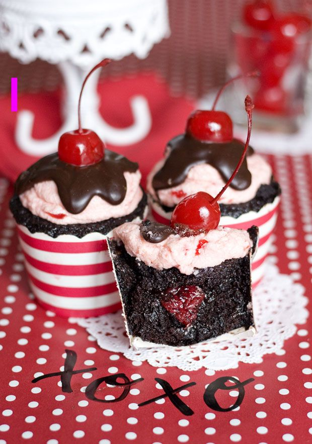 Chocolate Cherry Cordial Cupcakes | Goodies to Try! | Pinterest