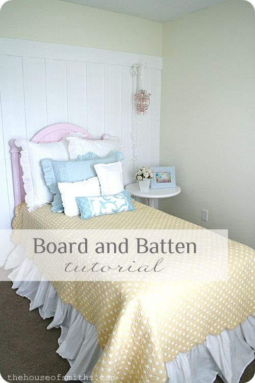 Board and Batten Wall Treatment Tutorial @Shelley Smith on @Homes.com
