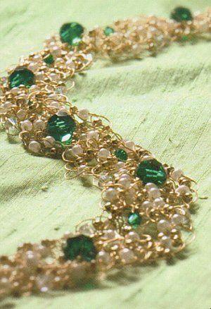 Crochet covered glass bead pendants, crochet jewelry, how