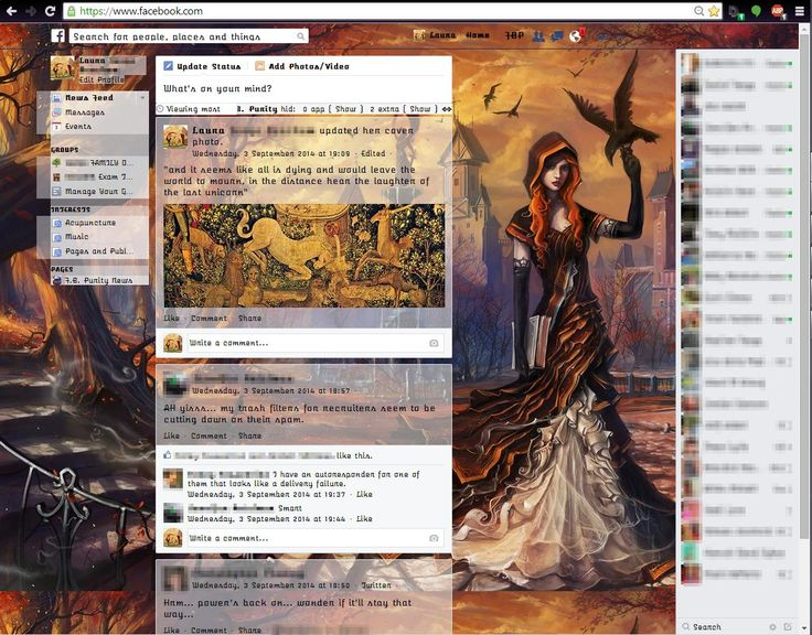 Make your Facebook look sexy with FB Purity's new background image and web fonts options