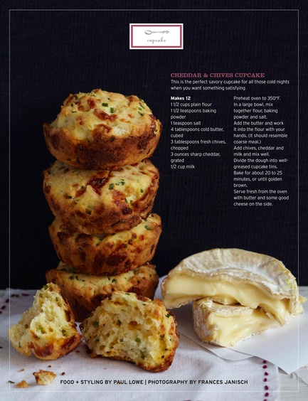 savory cheddar and chives cupcake - these were so good, and reheated ...