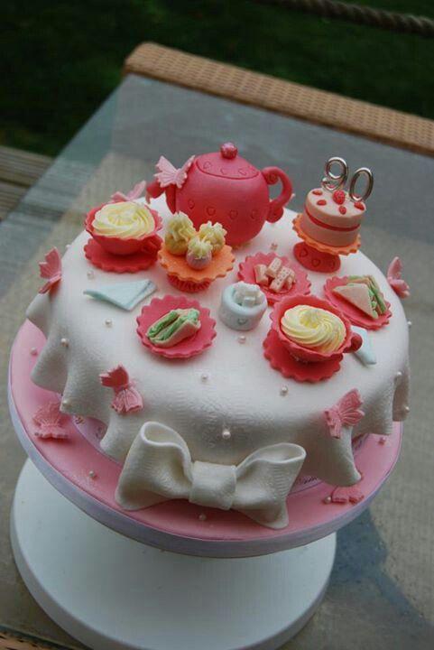 Cupcake Decorating Ideas For High Tea : Afternoon Tea Cake Cake ideas Pinterest