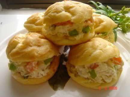 Crosse&Blackwell # SaladCream ,chicken salad cream puff