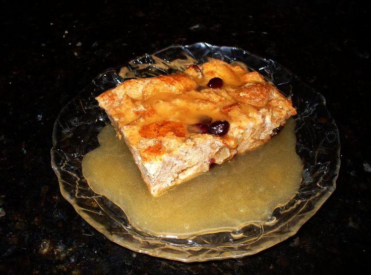 My Sugar Free Bread Pudding w/Rum Sauce