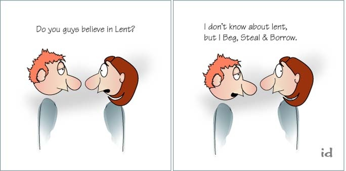 Lent - #401 of his Cartoon File | Quilling & A pinch of salt... | Pin ...