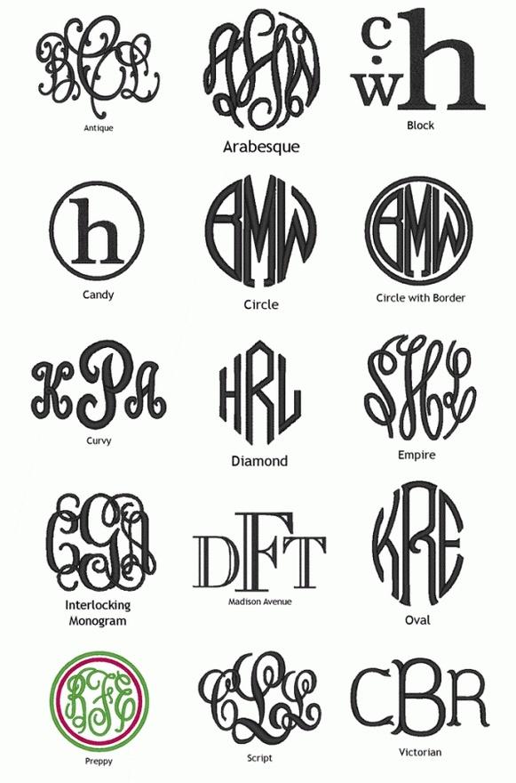 Types Of Monograms Monogram It Pinterest