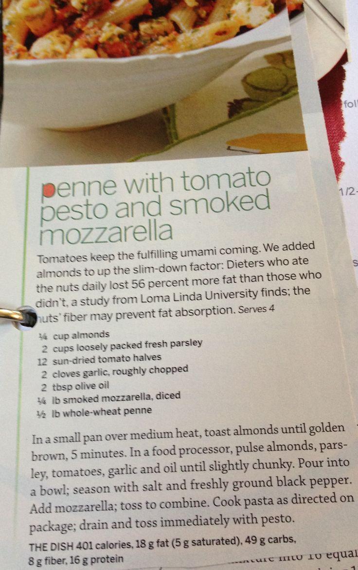 Penne With Tomato Pesto And Smoked Mozzarella Recipes — Dishmaps