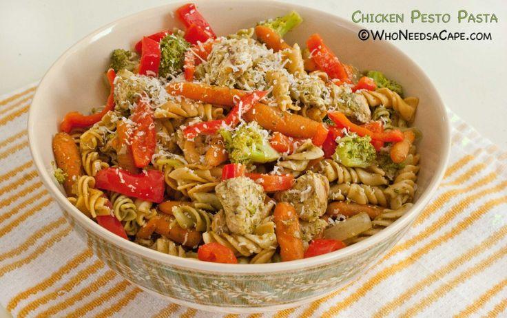 Chicken Pesto Pasta - Who Needs A Cape? #pesto #chickendishes # ...