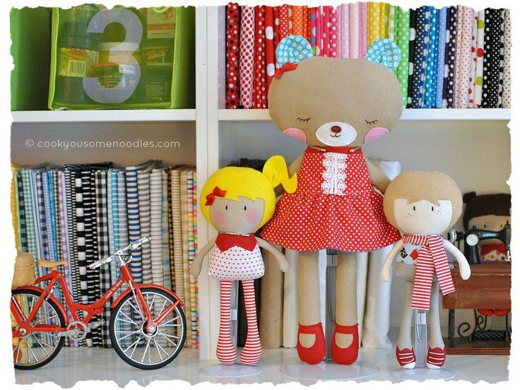 Мои Teeny-Крошечный Куклы ® Никиты & Стюарт + Симпатичный медведь | Кука вас Некоторые Лапша