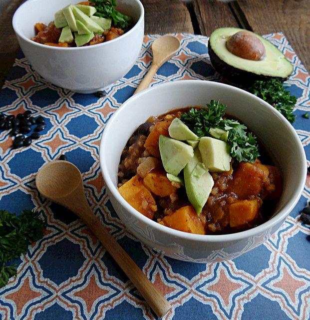 sweet potato, black bean and bulgar soup | Soups | Pinterest