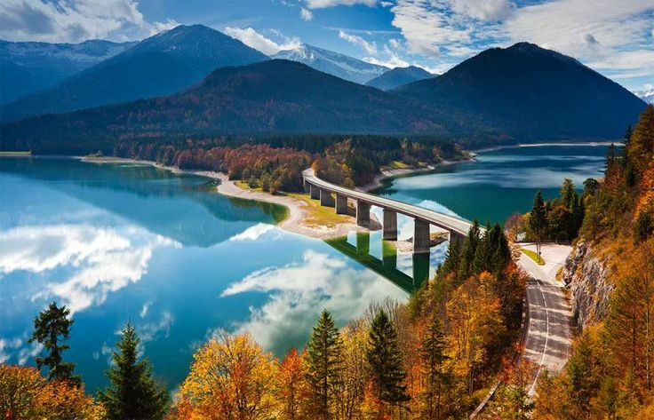 Lake Sylvenstein Germany Most Beautiful Places On Earth Pinterest