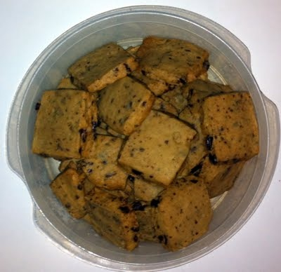 espresso chocolate chip shortbread cookies. @Keight Dukes says they're ...