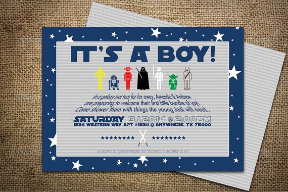 star wars themed baby shower invites